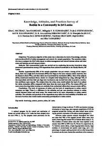 Knowledge, attitudes, and practices survey of rabies in ... - Springer Link