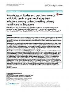 Knowledge, attitudes and practices towards