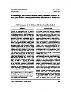 Knowledge, attitudes and self-care practices