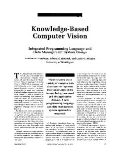 Knowledge-Based Computer Vision - Robert Haralick