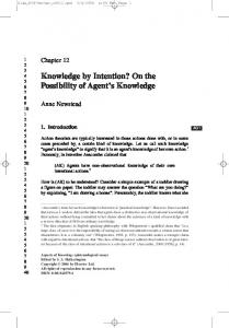 Knowledge by Intention? - PhilArchive