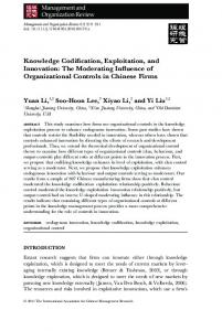 Knowledge Codification, Exploitation, and Innovation - SSRN
