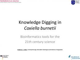 Knowledge Digging in Coxiella burnetii