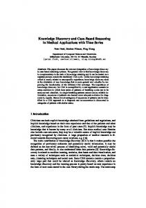 Knowledge Discovery and Case-Based ... - Semantic Scholar