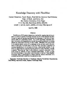 Knowledge Discovery with FlexiMine - Semantic Scholar