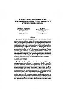 knowledge-empowered agent negotiation for electronic commerce ...