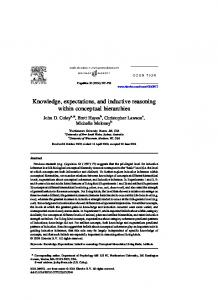 Knowledge, expectations, and inductive reasoning within conceptual ...