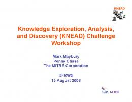 Knowledge Exploration, Analysis, and Discovery (KNEAD) - DFRWS