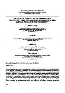 Knowledge Integration Processes within The Context of ... - CiteSeerX