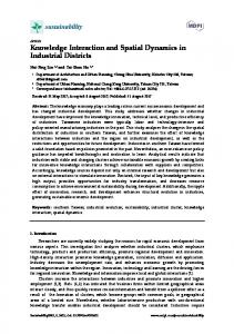Knowledge Interaction and Spatial Dynamics in Industrial Districts
