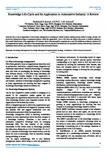Knowledge Life Cycle and Its Application in Automotive ... - IJRMEE