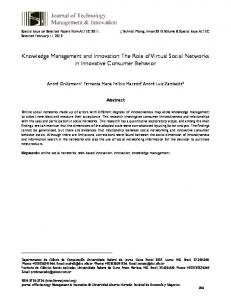 Knowledge Management and Innovation: The Role of Virtual Social ...