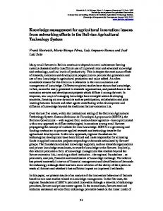 Knowledge Management for Industrial Innovation and