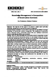 Knowledge Management in Composition of Construction ... - CiteSeerX