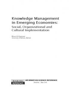 Knowledge Management in Emerging Economies