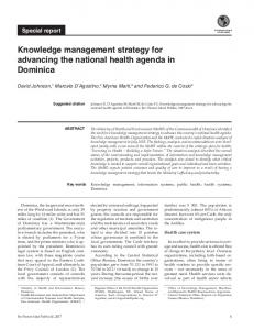 Knowledge management strategy for advancing the ... - PANCAP