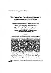 Knowledge of and Compliance with Standard Precautions among ...