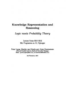 Knowledge Representation and Reasoning Logic meets Probability ...