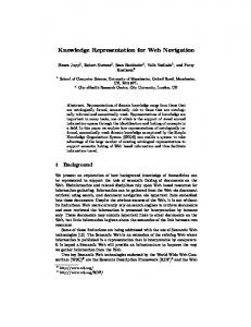 Knowledge Representation for Web Navigation - Semantic Scholar