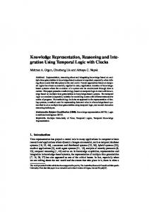 Knowledge Representation, Reasoning and Inte-gration Using ...