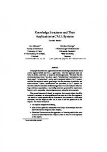 Knowledge Structures and Their Application in
