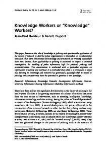 Knowledge Workers or ''Knowledge'' Workers?