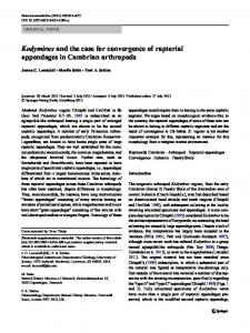 Kodymirus and the case for convergence of raptorial ... - Paul Selden