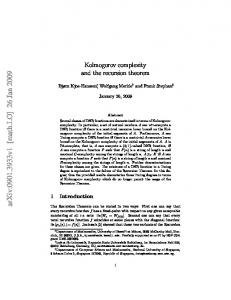 Kolmogorov complexity and the recursion theorem