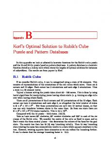 Korf's Optimal Solution to Rubik's Cube Puzzle and Pattern Databases