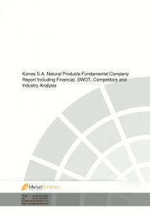Korres S.A. Natural Products Fundamental Company Report ...