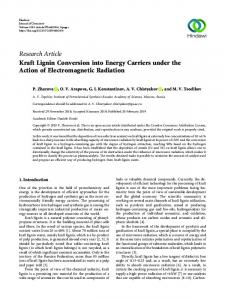 Kraft Lignin Conversion into Energy Carriers under the Action of