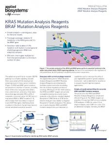 KRAS Mutation Analysis Reagents BRAF ... - Life Technologies