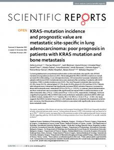 KRAS-mutation incidence and prognostic value are ... - Nature