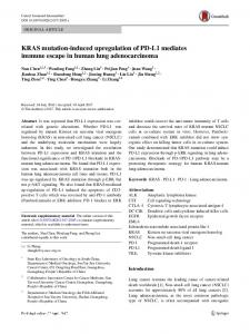 KRAS mutation-induced upregulation of PD-L1 ... - Springer Link