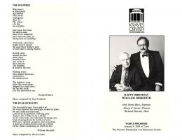 Kravis Center 80th Birthday Celebration Program