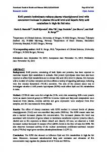 Krill protein hydrolysate reduces plasma triacylglycerol level with ...
