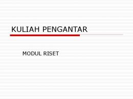 KULIAH PENGANTAR - Website Staff UI