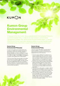 Kumon Group Environmental Management.pdf - Kumon UK