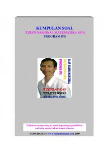 Kumpulan Soal Un Matematika SMA Program IPS(DOWNLOAD)