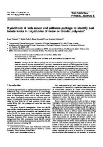 KymoKnot: A web server and software package to ... - Springer Link