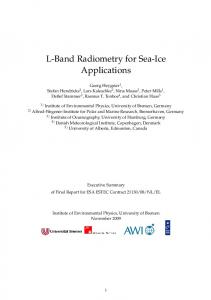 L-Band Radiometry for Sea-Ice Applications - ePIC - AWI