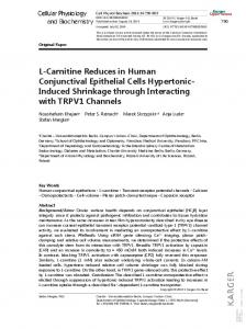 L-Carnitine Reduces in Human Conjunctival