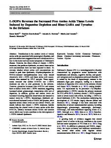 L-DOPA Reverses the Increased Free Amino Acids ... - Springer Link