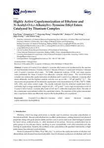 l-Tyrosine Ethyl Esters Catalyzed by Titanium
