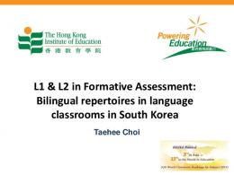 L1 & L2 in Formative Assessment: : Bilingual