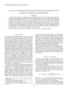 L11 FAST ANALYSIS OF INHOMOGENOUS ... - IOPscience