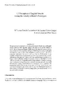 L2 Perception of English Vowels: testing the ... - Semantic Scholar