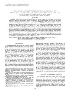 L83 THE FUNDAMENTAL PLANE OF CLUSTER ... - IOPscience