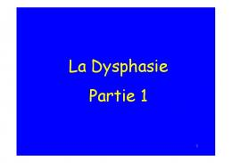 La Dysphasie Partie 1 - WordPress.com