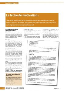 La lettre de motivation : - Studies2 - HEC Paris
